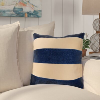 Dayton Stripes Throw Pillow Color: Navy