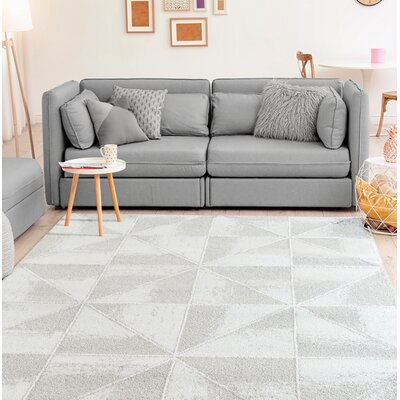 Wardlow Accent Gray Area Rug Rug Size: Rectangle 9 x 12