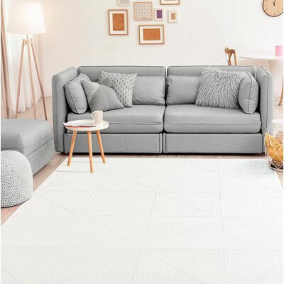 Wardlow Accent White Area Rug Rug Size: Rectangle 5 x 8