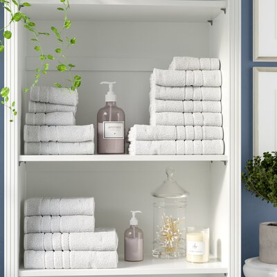 100% Combed Cotton 550 GSM 16 Piece Towel Set Color: White
