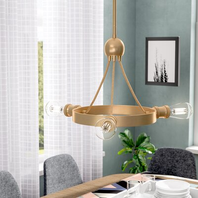 Perlita 3-Light Candle-Style Chandelier Finish: Natural Brass