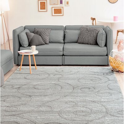Hilley Accent Gray Area Rug Rug Size: Rectangle 9 x 12