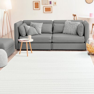 Ospina Accent White Area Rug Rug Size: Rectangle 5 x 8