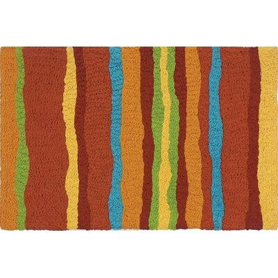 Strubing Stripes Scatter Hand-Tufted Brown Indoor/Outdoor Area Rug Rug Size: Rectangle 210 x 46