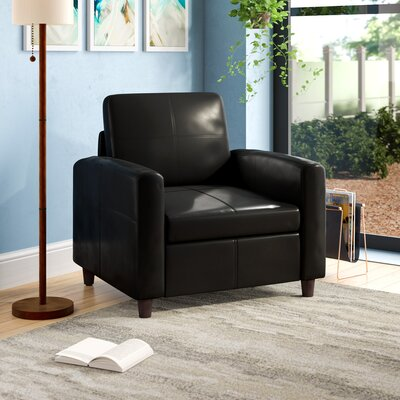 Caswell Lounge Chair Upholstery: Black