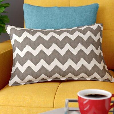 Sandler Cotton Canvas Lumbar Pillow Color: Gray