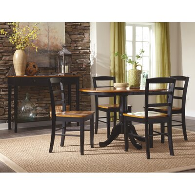 Polito Pedestal Extendable 5 Piece Dining Set