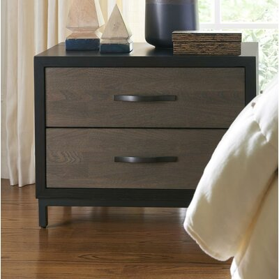 Pearson 2 Drawer Nightstand Color: Black/Brown