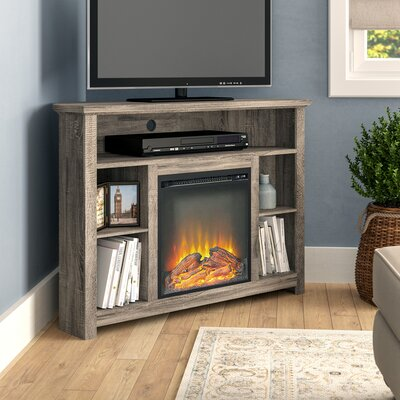 Senecaville Corner 44 TV Stand with Fireplace Finish: Driftwood
