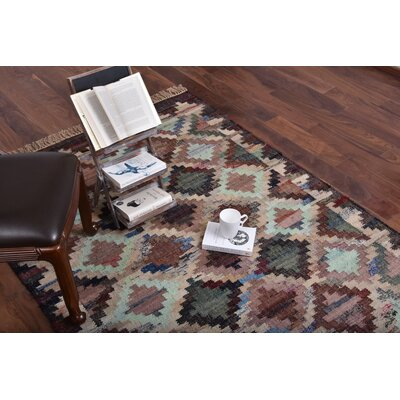 Hammondale Hand-Woven Cotton Purple/Beige Area Rug