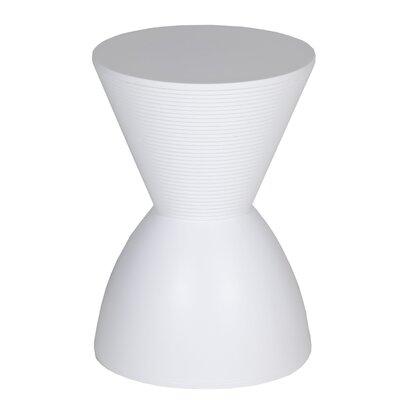 Elkins Park End Table Color: White