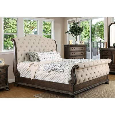 Darvell Upholstered Sleigh Bed Size: California King