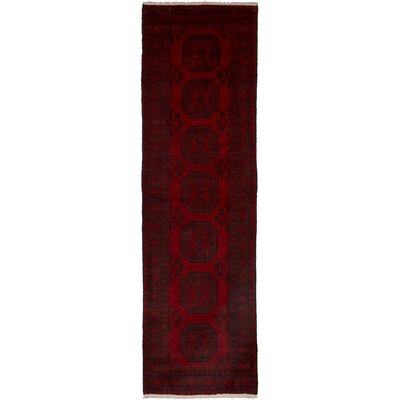 One-of-a-Kind Pinegar Hand-Knotted Wool Red Area Rug