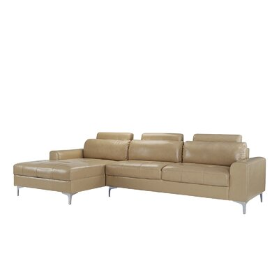 Kampmann Leather Sectional Upholstery: Beige