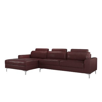 Kampmann Leather Sectional Upholstery: Brown