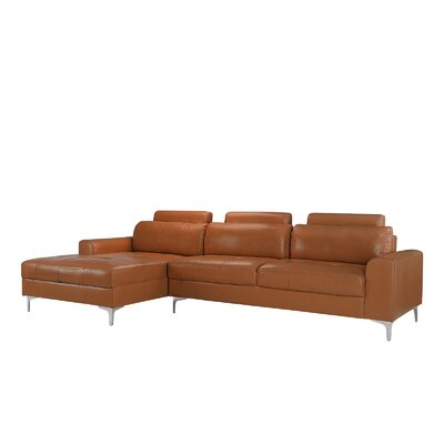 Kampmann Leather Sectional Upholstery: Camel