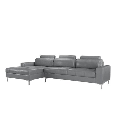 Kampmann Leather Sectional Upholstery: Light Gray