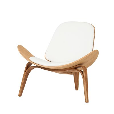 Lucas Lounge Chair Upholstery: White