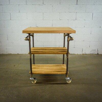 Hogsett Kitchen Cart Base Finish: Brushed Brass Gray
