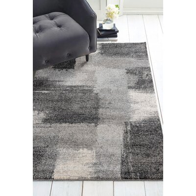 Holgate Auroa Gray Area Rug Rug Size: Rectangle 27 x 42