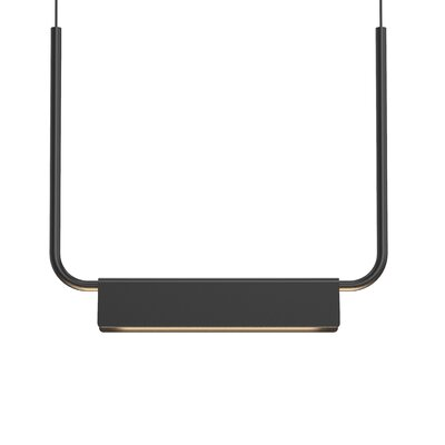 Morii 1-Light LED Kitchen Island Pendant Finish: Satin Black