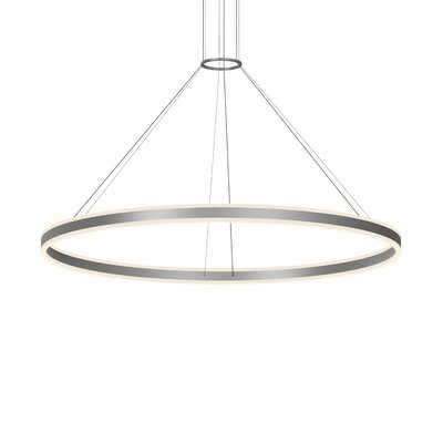 Double Corona 2-Light LED Cluster Pendant Finish: Bright Satin Aluminum