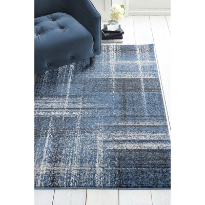 Holgate Midnight/Blue Area Rug Rug Size: Rectangle 27 x 42