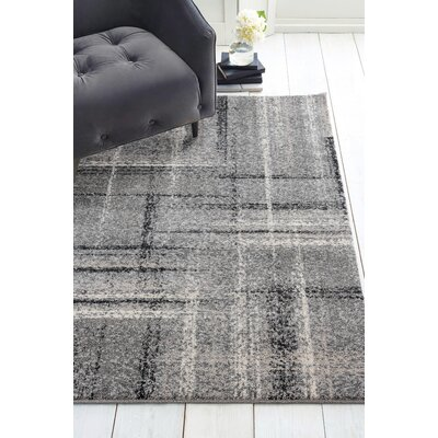Holgate Mirage Gray Area Rug Rug Size: Runner 110 x 72