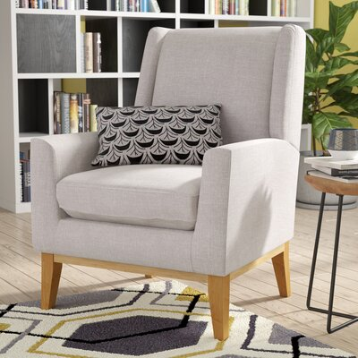 Thierry Wingback Armchair Upholstery: Beige