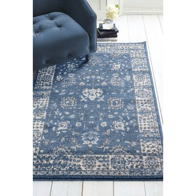 Kinch Midnight/Blue Area Rug Rug Size: Rectangle 27 x 42
