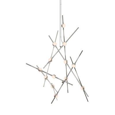 Constellation 13-Light LED Aquila Minor Geometric Pendant Shade Color: White Optical Acrylic