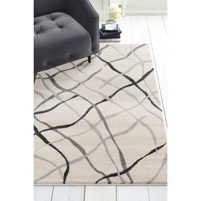 Gippetti Reve Cream Area Rug Rug Size: Rectangle 27 x 42