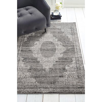 Caprice Sanya Gray Area Rug Rug Size: Rectangle 53 x 72