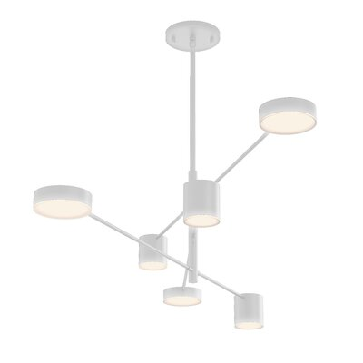 Counterpoint 6-Light LED Sputnik Chandelier Finish: Satin White
