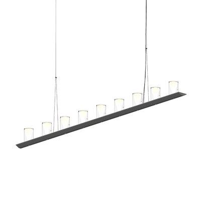 18-Light LED Kitchen Island Pendant Finish: Satin Black