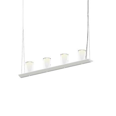 8-Light LED Kitchen Island Pendant Finish: Satin White