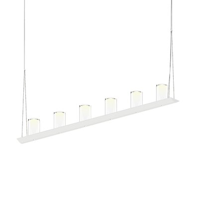 12-Light LED Kitchen Island Pendant Finish: Satin White