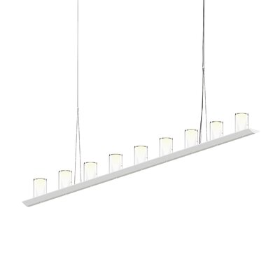 18-Light LED Kitchen Island Pendant Finish: Satin White