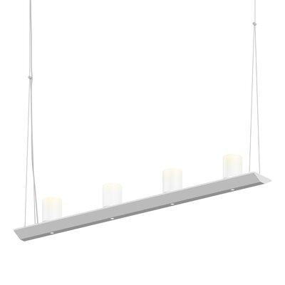 8-Light LED Kitchen Island Pendant Finish: Bright Satin Aluminum