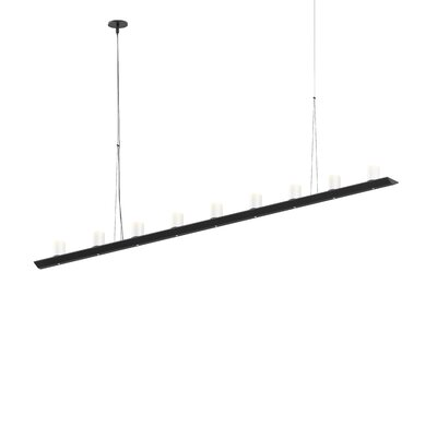 18-Light LED Kitchen Island Pendant Finish: Satin Black