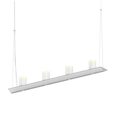 8-Light LED Kitchen Island Pendant Finish: Satin White