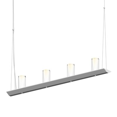 8-Light LED Kitchen Island Pendant Finish: Bright Satin Aluminum