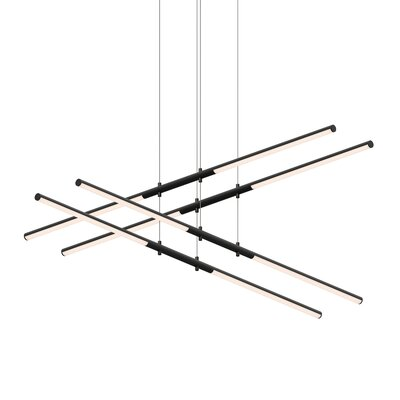 Tik-Tak Stack 8-Light LED Geometric Pendant Finish: Satin Black