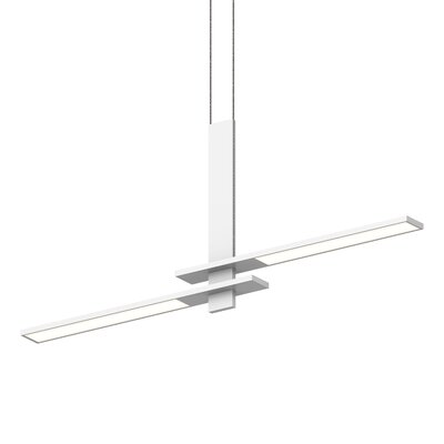 Planes Cantilevered 2-Light LED Kitchen Island Pendant Finish: Satin White