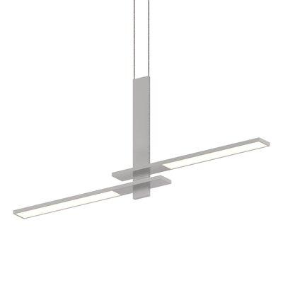 Planes Cantilevered 2-Light LED Kitchen Island Pendant Finish: Bright Satin Aluminum