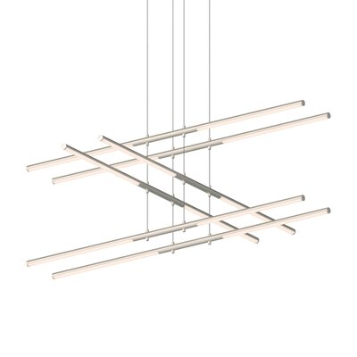 Tik-Tak Stack 12-Light LED Geometric Pendant Finish: Satin Nickel