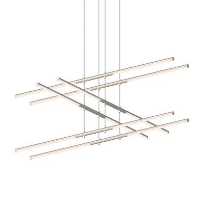 Tik-Tak Stack 12-Light LED Geometric Pendant Finish: Satin Nickel