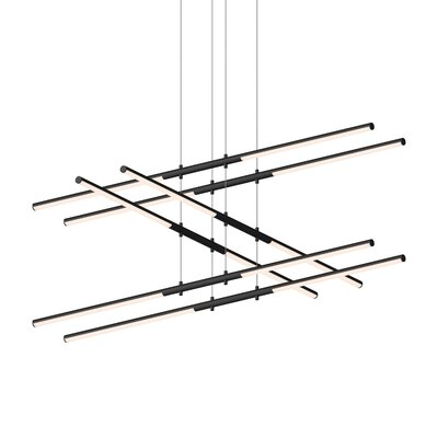 Tik-Tak Stack 12-Light LED Geometric Pendant Finish: Satin Black