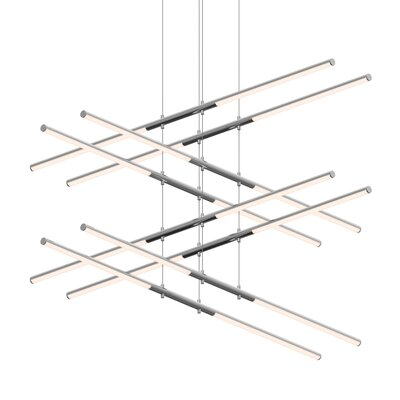 Tik-Tak Stack 16-Light LED Geometric Pendant Finish: Polished Chrome