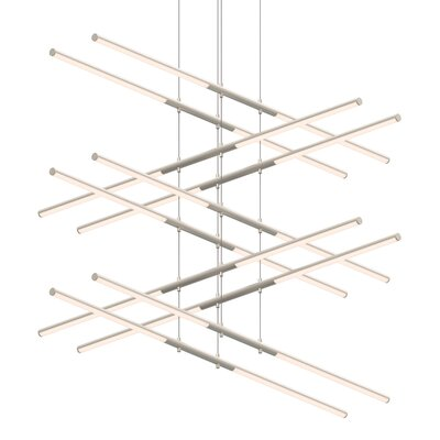 Tik-Tak Stack 20-Light LED Geometric Pendant Finish: Satin Nickel